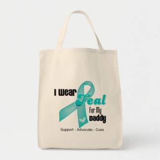 I Wear Teal Ribbon For My Daddy Bags