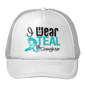 I Wear Teal Ribbon For My Daughter Trucker Hat
