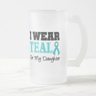 I Wear Teal Ribbon For My Daughter Mugs