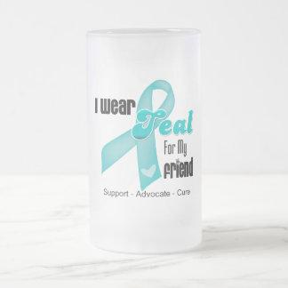 I Wear Teal Ribbon For My Friend Coffee Mug