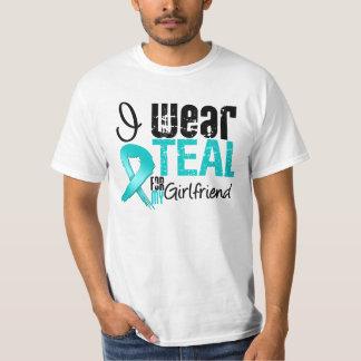 I Wear Teal Ribbon For My Girlfriend Tee Shirt