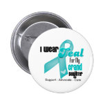 I Wear Teal Ribbon For My Granddaughter Pinback Button