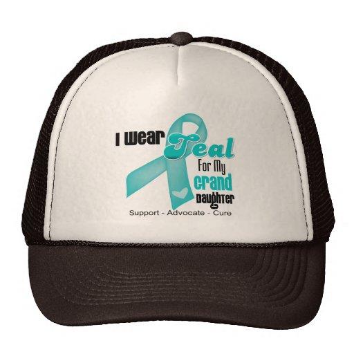 I Wear Teal Ribbon For My Granddaughter Trucker Hats