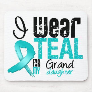 I Wear Teal Ribbon For My Granddaughter Mouse Pad