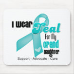 I Wear Teal Ribbon For My Granddaughter Mousepads