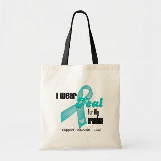 I Wear Teal Ribbon For My Grandma Bags