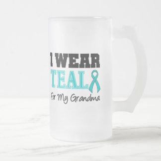 I Wear Teal Ribbon For My Grandma Mug