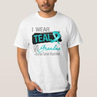 I Wear Teal Ribbon For My Grandma Ovarian Cancer Shirt