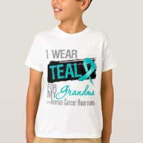 I Wear Teal Ribbon For My Grandma Ovarian Cancer T-Shirt