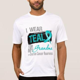 I Wear Teal Ribbon For My Grandma Ovarian Cancer Tee Shirt