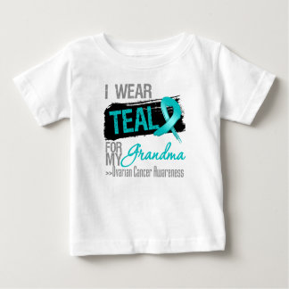 I Wear Teal Ribbon For My Grandma Ovarian Cancer Tee Shirt