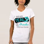I Wear Teal Ribbon For My Grandma Ovarian Cancer T Shirts