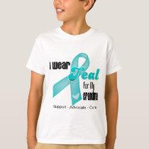 I Wear Teal Ribbon For My Grandma T-Shirt