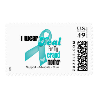I Wear Teal Ribbon For My Grandmother Postage