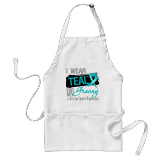 I Wear Teal Ribbon For My Granny Ovarian Cancer Adult Apron