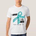 I Wear Teal Ribbon For My Hero T Shirt