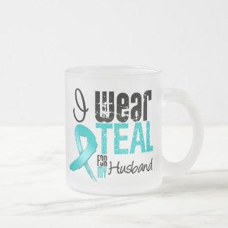 I Wear Teal Ribbon For My Husband Coffee Mug