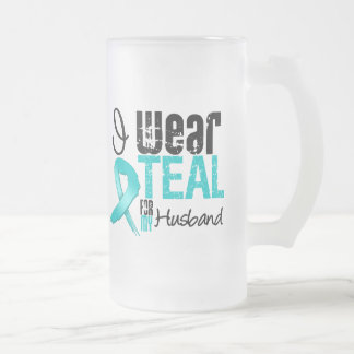 I Wear Teal Ribbon For My Husband Mugs