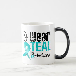 I Wear Teal Ribbon For My Husband Mug