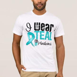 I Wear Teal Ribbon For My Husband T-Shirt