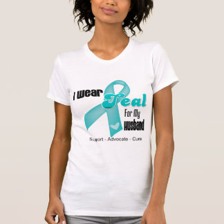 I Wear Teal Ribbon For My Husband T Shirts