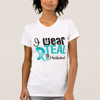 I Wear Teal Ribbon For My Husband Tee Shirt