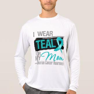 I Wear Teal Ribbon For My Mom Ovarian Cancer Shirt