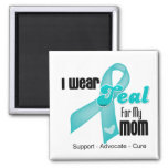 I Wear Teal Ribbon For My Mom Refrigerator Magnet