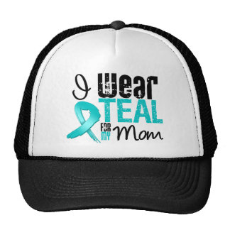 I Wear Teal Ribbon For My Mom Trucker Hat