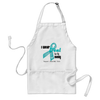 I Wear Teal Ribbon For My Mommy Adult Apron