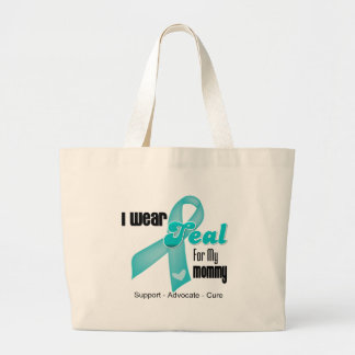 I Wear Teal Ribbon For My Mommy Tote Bags
