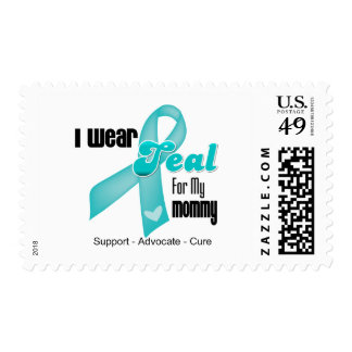 I Wear Teal Ribbon For My Mommy Postage