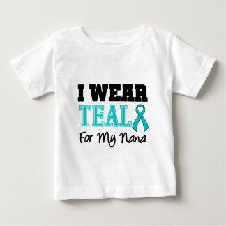 I Wear Teal Ribbon For My Nana T Shirts
