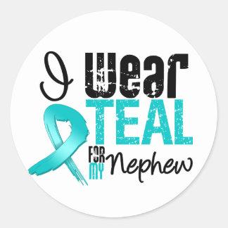 I Wear Teal Ribbon For My Nephew Stickers