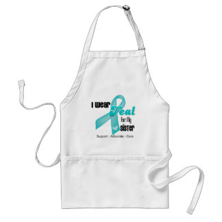 I Wear Teal Ribbon For My Sister Apron