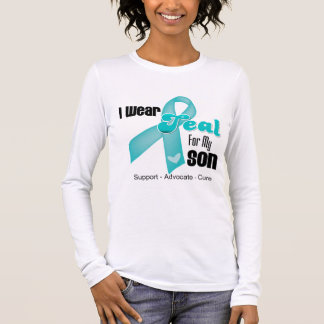 I Wear Teal Ribbon For My Son Long Sleeve T-Shirt