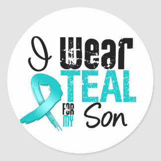 I Wear Teal Ribbon For My Son Classic Round Sticker
