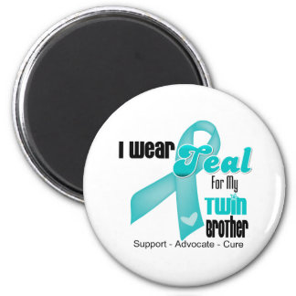 I Wear Teal Ribbon For My Twin Brother Refrigerator Magnet