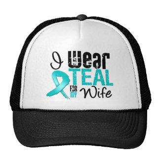 I Wear Teal Ribbon For My Wife Trucker Hat