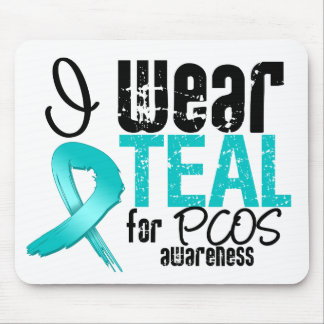 I Wear Teal Ribbon For PCOS Awareness Mouse Pad