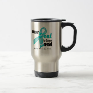 I Wear Teal Ribbon For Someone Special 15 Oz Stainless Steel Travel Mug