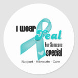 I Wear Teal Ribbon For Someone Special Stickers