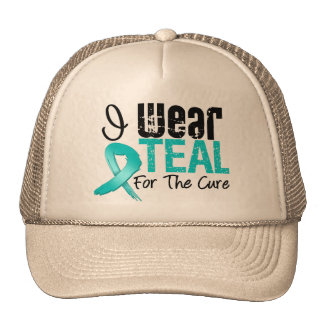 I Wear Teal Ribbon For The Cure Trucker Hat