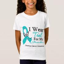 I Wear Teal Ribbon Grandma Ovarian Cancer T-Shirt