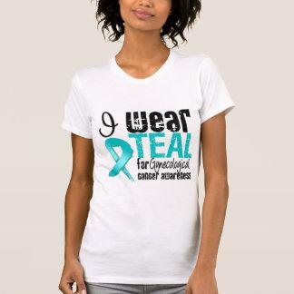 I Wear Teal Ribbon Gynecological Cancer Awareness T Shirt