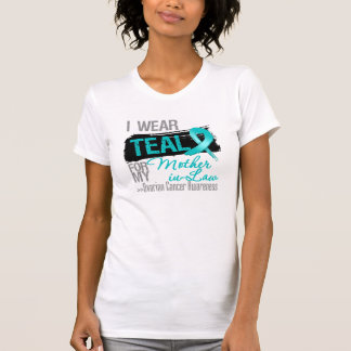 I Wear Teal Ribbon Mother-in-Law Ovarian Cancer T Shirt