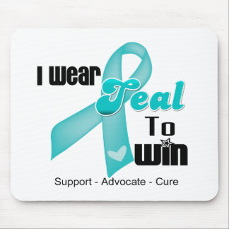I Wear Teal Ribbon To Win Mouse Pad