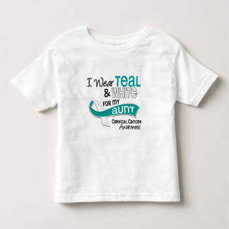 I Wear Teal White 42 Aunt Cervical Cancer Toddler T-shirt