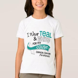 I Wear Teal White 42 Cousin Cervical Cancer T-Shirt