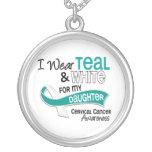 I Wear Teal White 42 Daughter Cervical Cancer Pendant